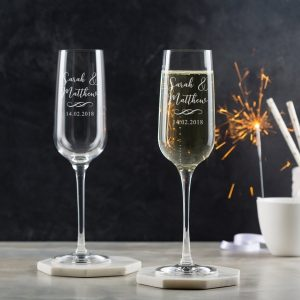 Dust And Things Champagne Flutes Pair